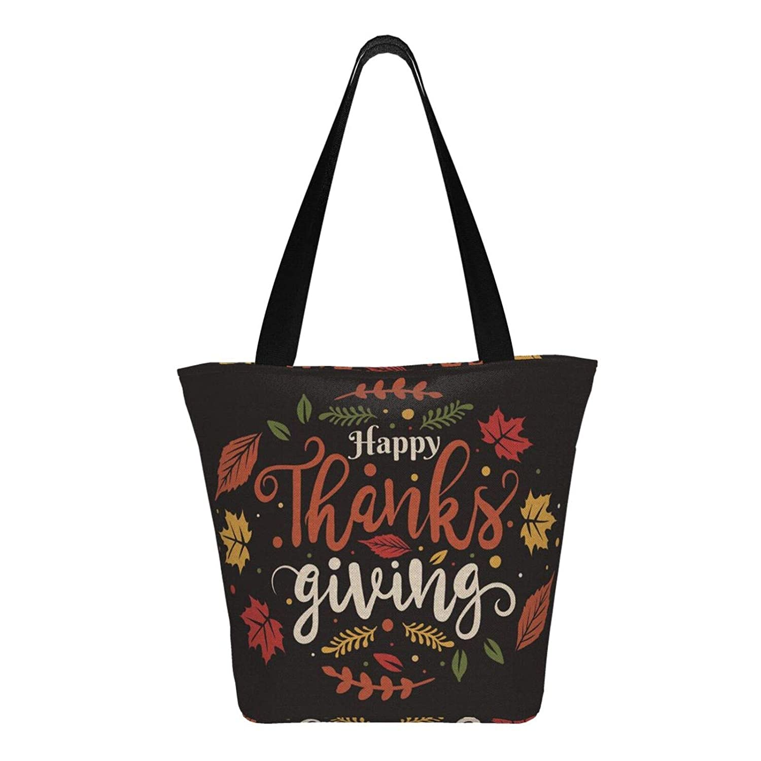 Glad Thanksgiving Kvinnor Stor Storlek Canvas Axelväska Hobo Crossbody Handväska Casual Tote Happy Thanksgiving5