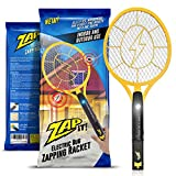 Zap-It! Bug Zapper – Electric Mosquito, Fly Killer and Bug Zapper Racket – 2000 Volt – Rechargeable Via USB, Super-Bright LED Light to Zap in the Dark – Unique 3-Layer Safety Mesh That's Safe to Touch