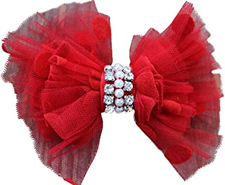 product image for Diva-Dog Party Dress Dog Collar Bow (Removable)