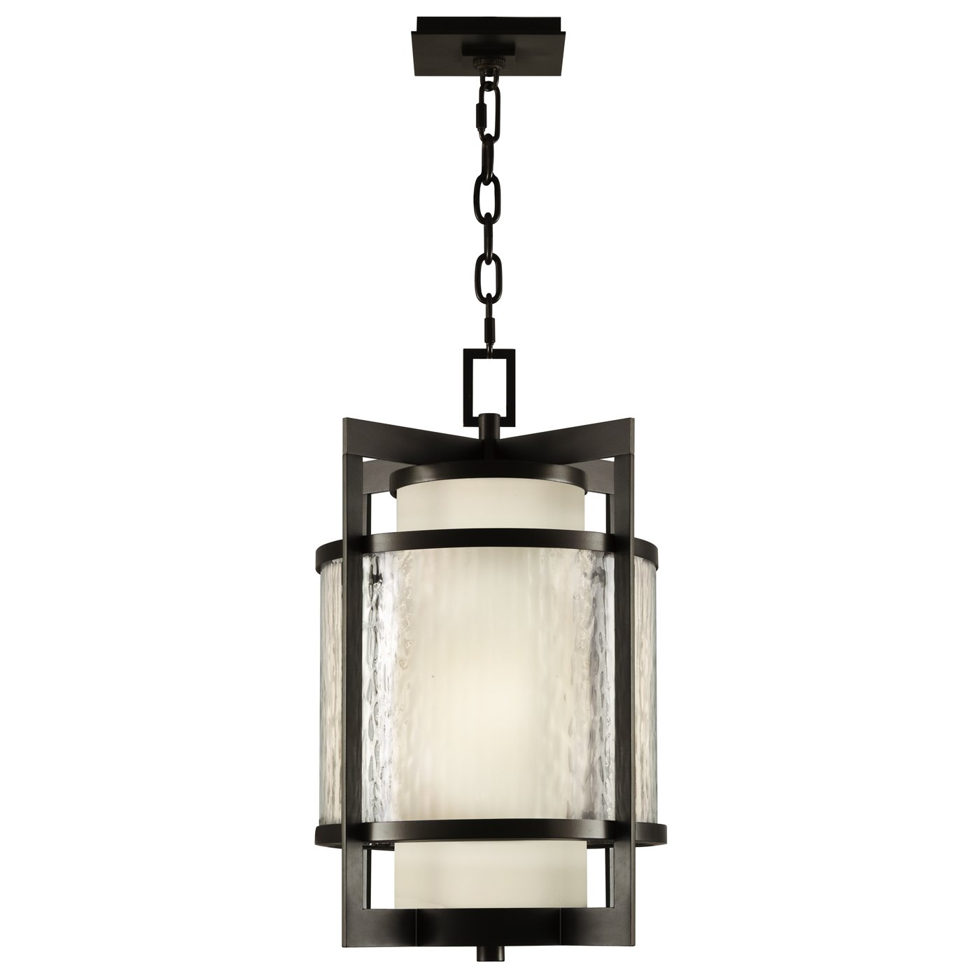 Fine Art Lamps 817482, Singapore Moderne Outdoor Ceiling Light Fluorescent, Dark Bronze