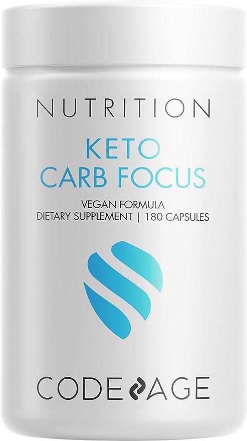 Codeage Keto Carb, White Kidney Bean, Green Tea & Cinnamon Bark Supplement, Triple Action Keto Cheat Vegan Pills, Ketogenic, Low Carb Diet Sugar, 3 Months Supply, Non-GMO, Gluten-Free, 180 Capsules