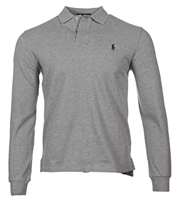 05910390b725 Ralph Lauren Men s Long Sleeve Polo Custom Slim Fit  Amazon.co.uk ...