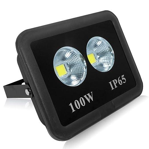 Foco LED 100W Exterior, 9500 Lúmenes, Impermeable IP65 Frío Luz ...