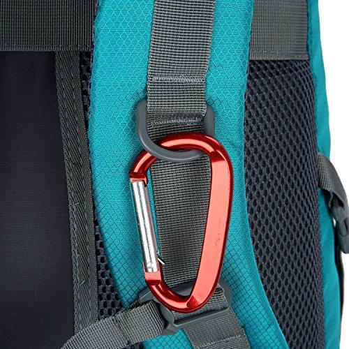 HWJF Al aire libre alpinismo bolsa de senderismo viaje de gran capacidad mochila paquete de camping para hombres y mujeres Blue