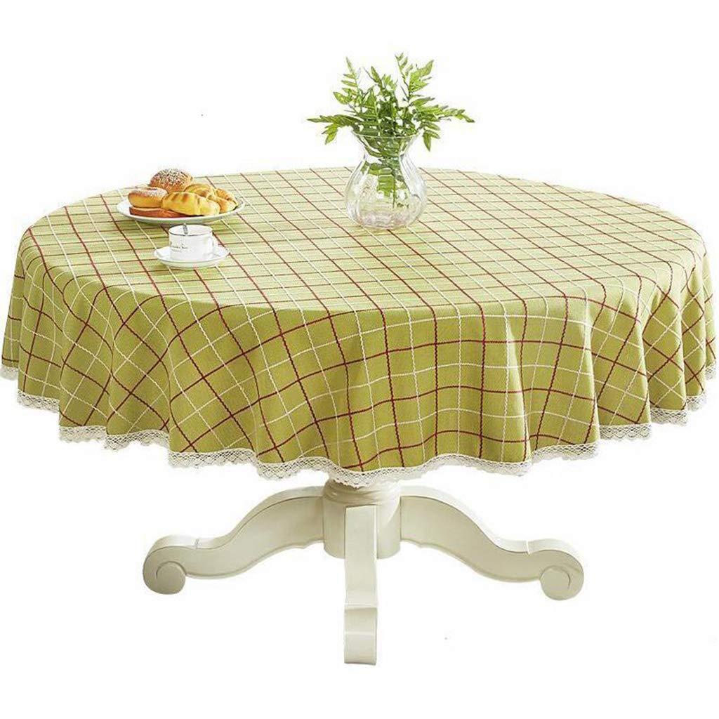 vert-a 140CM Nappe, nappes en lin et coton Couvertures en lin pour table rectangulaire (Couleur   bleu-A, taille   200CM)
