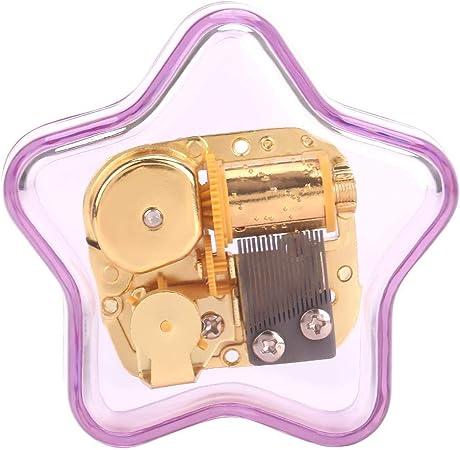 Caja de música de acrílico color púrpura de cuerda de Pentagram, gran regalo para cumpleaños Día de Navidad Día de San Valentín(Spirited away): Amazon.es: Hogar