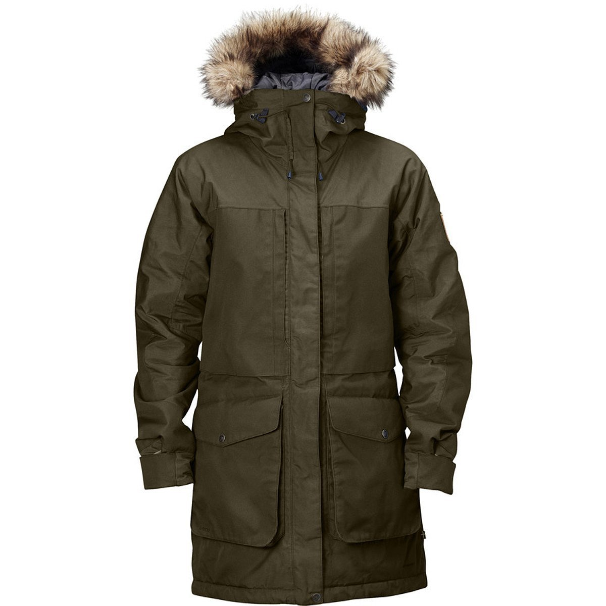 Fjallraven Men's Barents Parka Dark Olive Large [並行輸入品] B0784GZ9KP