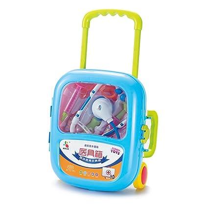 MAJGLGE - Carro de Juguete para niños, diseño de Estetoscopio, Color Azul