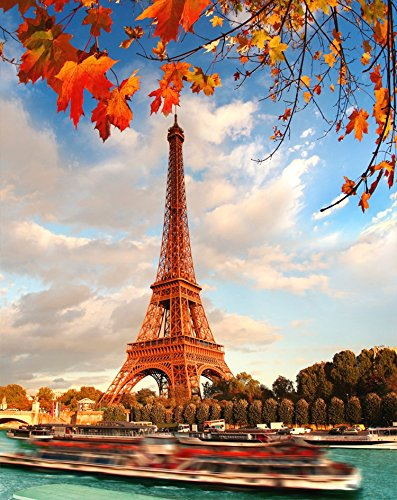Wooden Adult Jigsaw Puzzle Eiffel Tower Paris in the Fall 500-Pieces]()