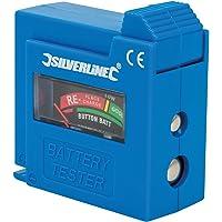 Silverline 918147, Comprobador de Pilas y Baterías, Color