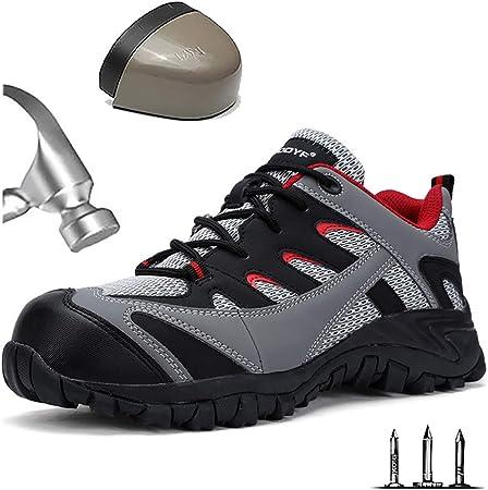 Chaussure De Securite Respirant Homme Basket De Travail Avec