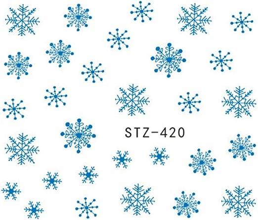 1 Hoja de Pegatinas de Navidad Copos de Nieve Etiqueta engomada ...