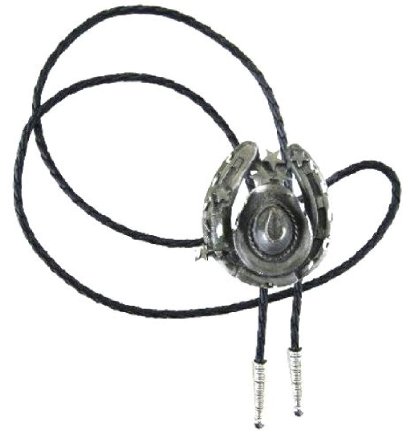 Hat and Horseshoe Bolo Tie Made in the USA # BT-145 Westexp