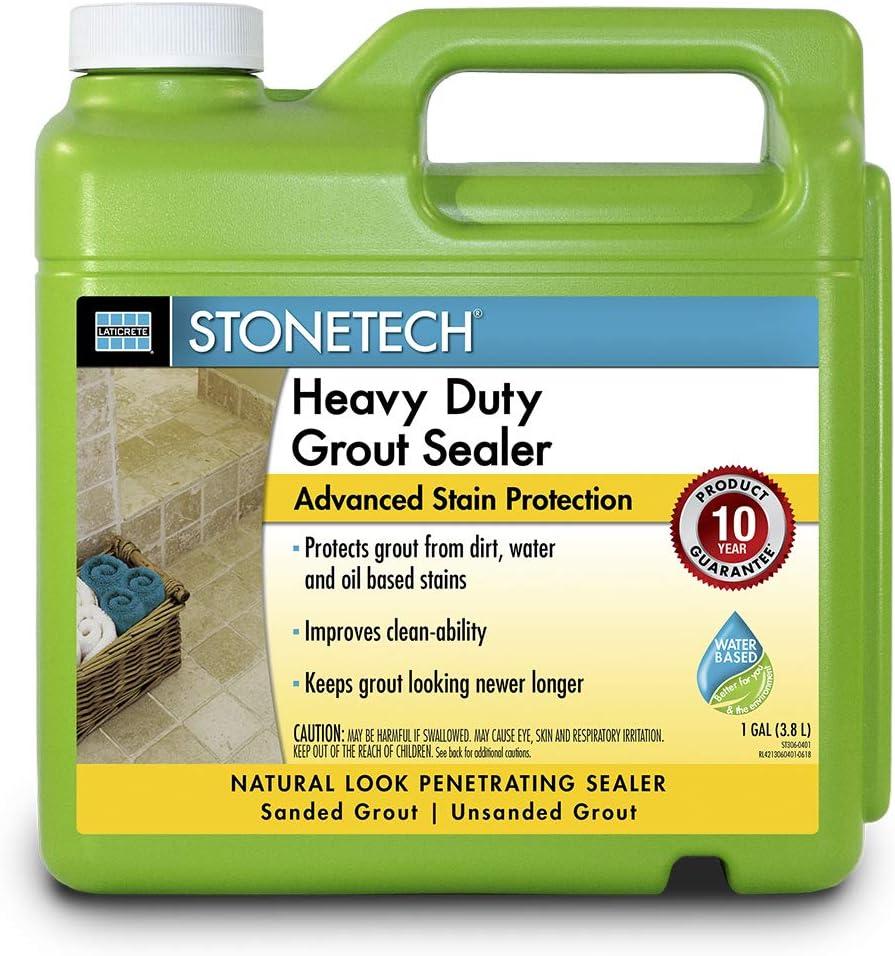 - StoneTech Heavy Duty Grout Sealer, 1-Gallon (3.785L) - Tile Grout