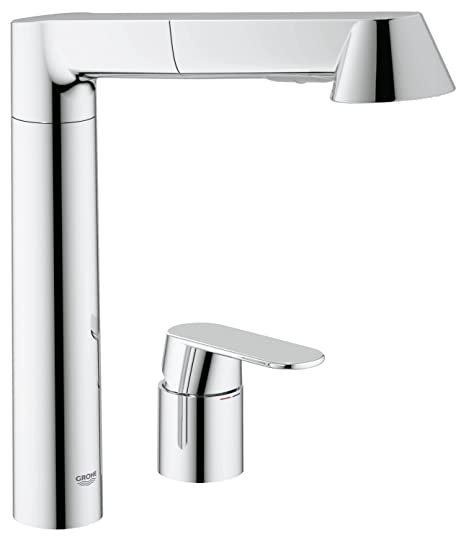 Grohe 32894000 K7 2 Hole Kitchen Tap High Spout Pull Down Comfort