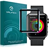 Apple Watch 42mm フィルム Dalinch Apple Watch ガラスフィルム 3D全面保護 HD画面対応 気泡防止 装着簡単 Apple Watch Series 3 Series 2 強化ガラス ブラック(1枚入り) (42 mm)