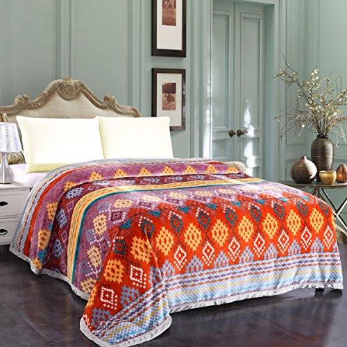 Jml Plush Flannel Blanket, Printed Fleece Blanket Queen Size