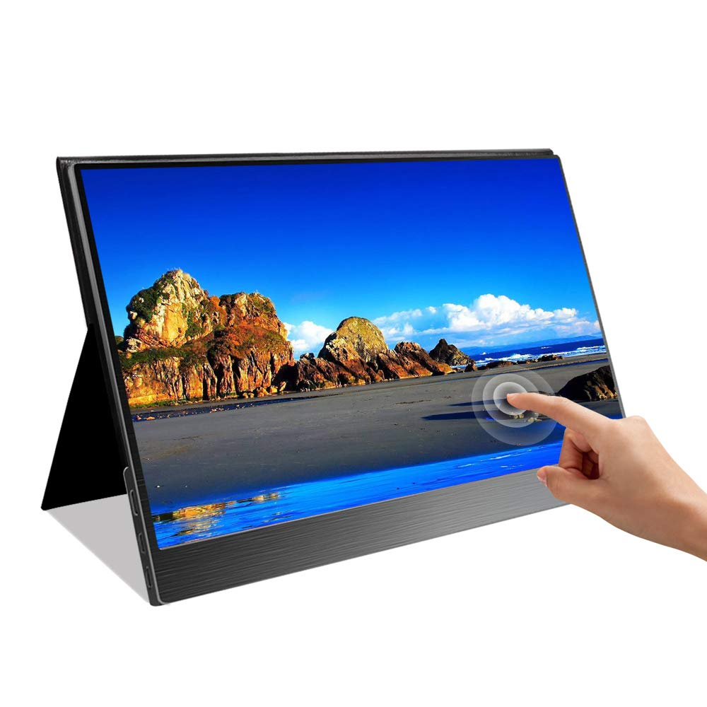 UPERFECT Touchscreen 15.6 Touch Display Portable Gaming Monitor USB C 1920 1080 Resolution 10 Points Capacitive Touch with Cover Case Fit for HDMI Type-C Laptop Computer PS4 Xbox Consoles Cellphone