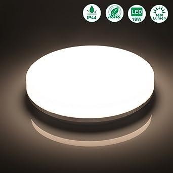Öuesen LED Deckenlampe Badezimmer 18W Neutralweiß LED Deckenleuchte ...