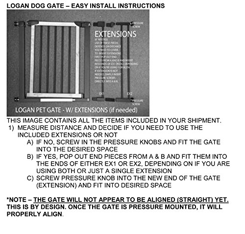 Logan Dog Gate Indoor Pet Barrier Expandable To 40