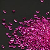PePeng Pack of 6000 Clear Decorative Wedding Table Scatter Crystals for 6-8 Tables, Make Wedding Days More Magic with The Acrylic Gem Confetti (Hot Pink)