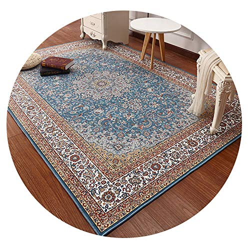 Hand Tufted Rugby Black - Persian Style Carpets for Living Room Large 200X290 cm Bedroom Rugs Classic Turkey Study Floor Mat Coffee Table Area,1,160X230Cm