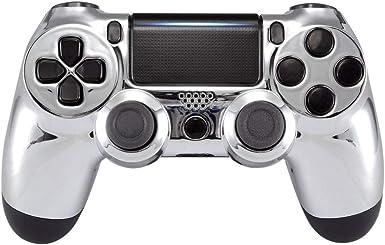 eXtremeRate Carcasa Mando PS4 Funda Delantera Protectora de la Placa Frontal Cubierta reemplazable para Mando del Playstation 4 PS4 Slim Pro con JDM-040 JDM-050 JDM-055 Plateado: Amazon.es: Electrónica
