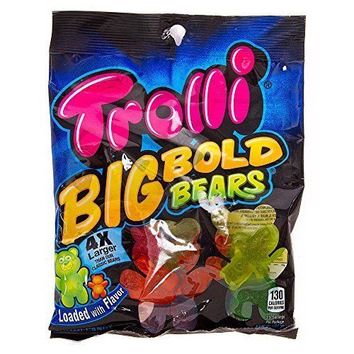 Trolli Big Bold Gummy Bears Candy, 5 Ounce ()