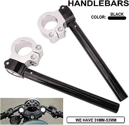 Anzene Manillar Clip-ons para horquillas Manillar regular Riser CNC 31//33//35//37//39//41mm Negro, 33mm