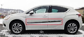 Cuerpo Lateral Molduras adecuado para Citroen DS4 2011 – 2016 puerta moldura 4 pcs kit Trim