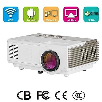 Wireless LED Pico proyector de vídeo, portátil Mini multimedia ...