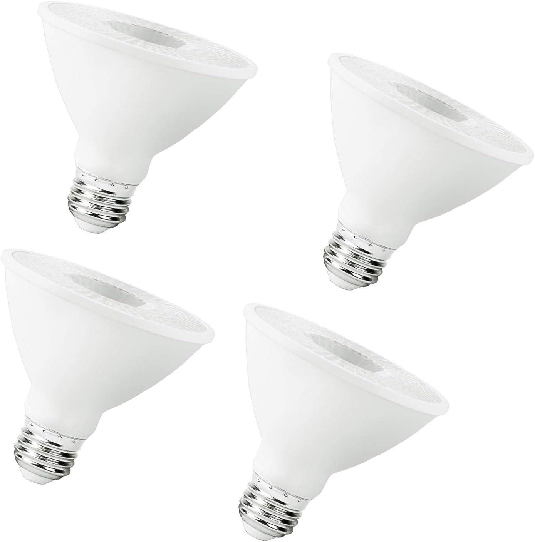 Par30 Led Flood Outdoor Light Bulb, 2700K Warm White, 75W Equivalent (11 Watt), 900 Lumens,E26 Base, 4 Pack