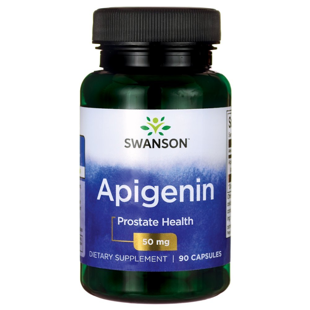 Swanson Apigenin Prostate Health Supplements, Nerve Health, 50 mg 90 Capsules