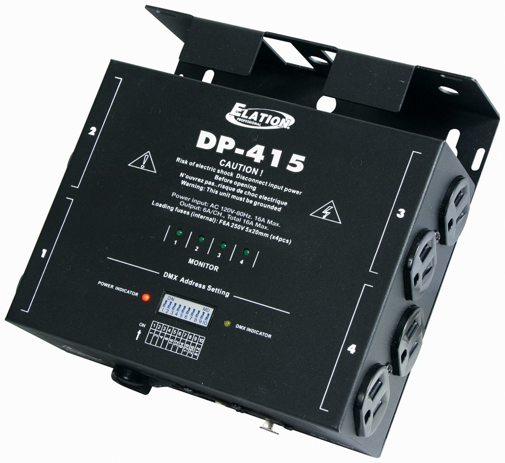American Dj Dp-415 4 Channel Dmx Dimmer Pack by Elation Control