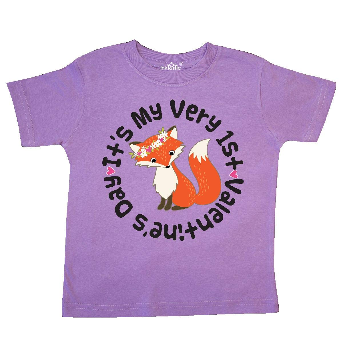 inktastic First Valentines Day Girl Fox Toddler T-Shirt