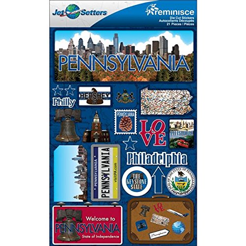 - Reminisce Jet Setters 2 3-Dimensional Sticker, Pennsylvania
