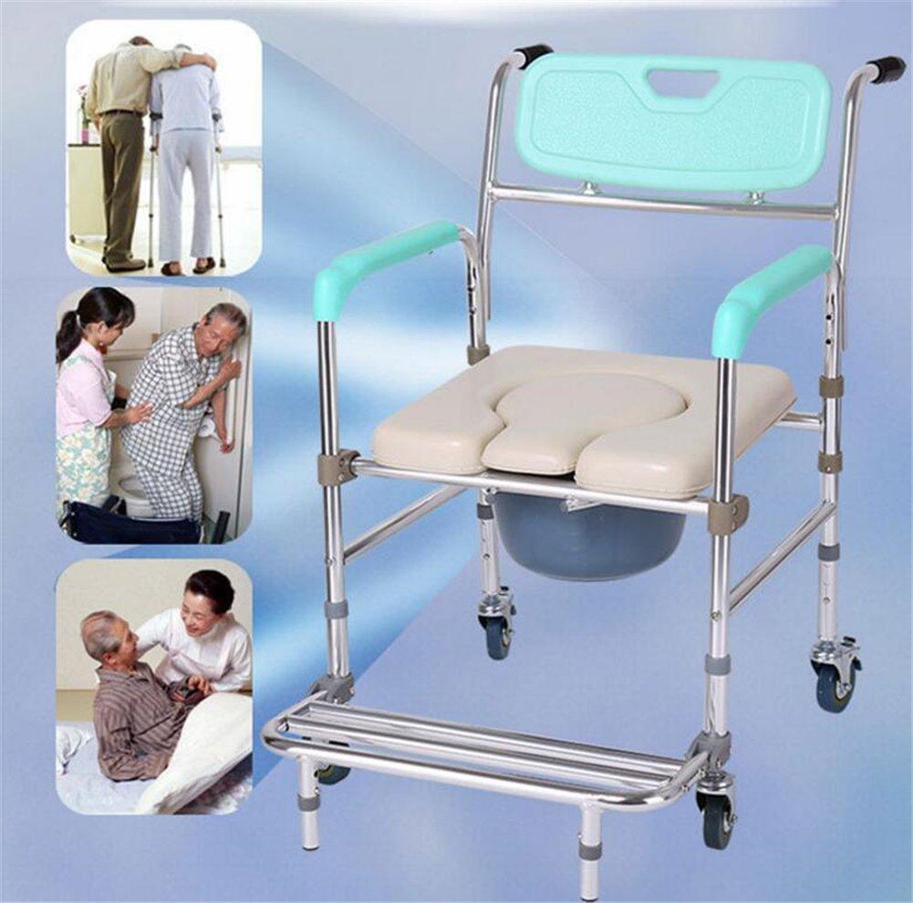 Amazon.com: GFYWZ Healthcare Folding Commode Chair,Portable Fixed ...