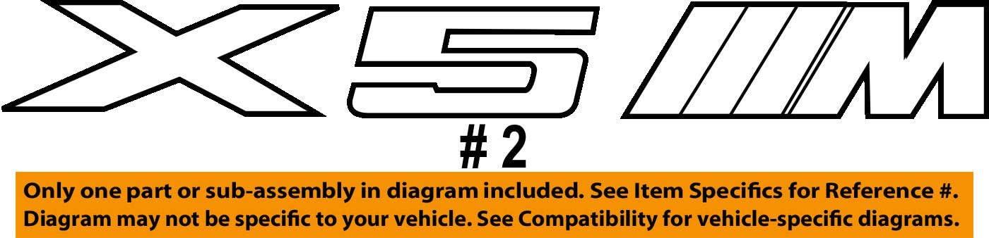 Original-Emblem f/ür Heckklappe des BMW X5 M F85/SUV OEM 51148057980