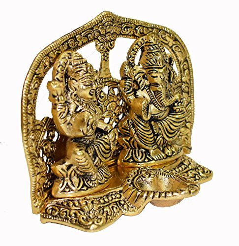 Hashcart Laxmi Ganesh Statue- Gold Plated Especially For Pooja / Home Decor / Gift / Office
