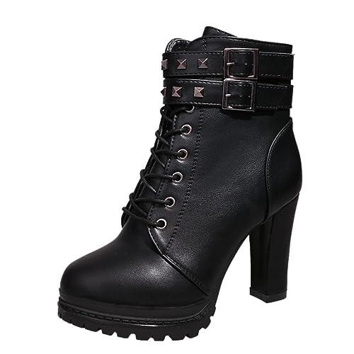 boots femme d'hiver à talon en fourrure bottine chaud avec nœud et rivet b0ppw