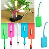 Jiada Kids Favourite Birthday Return Gifts Set of 12 Portable Flexible USB LED Light Lamp