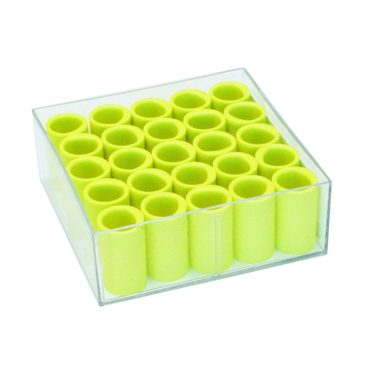 Vise Power Lift & Oval Finger Insert (Box of 25), Neon Yellow, 3/4