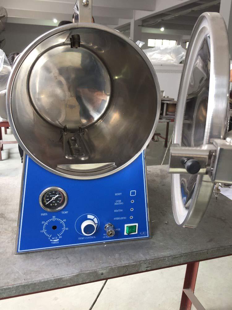 Alkita 24L Portable Pressure Stainless Steel Steam Autoclave Sterilizer for Lab
