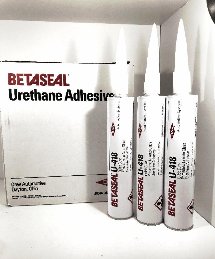 U-418 Dow Betaseal Auto Glass Primerless Urethane/Sealant/Adhesive (3) Tubes