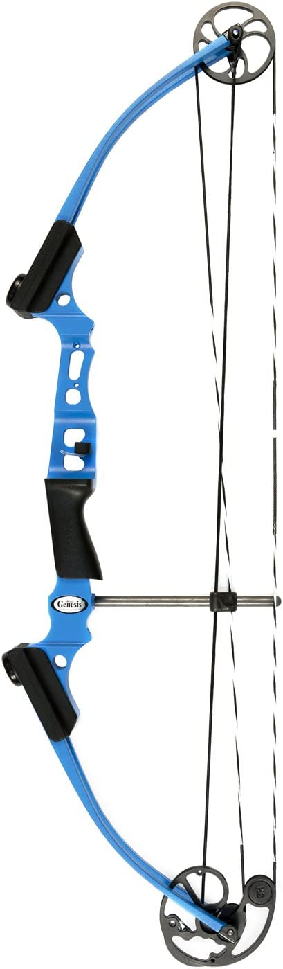 Genesis 10472 Original 35.5-Inch Lightweight Aluminum Adjustable Draw Righthand Compound Hunting and Archery Bow, Blue