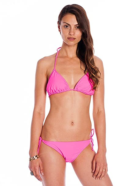 a155f7d657a Amazon.com: Hot Pink Women's Two Piece Bikini: Clothing