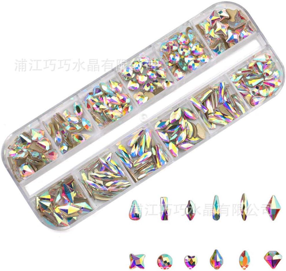 2 cajas de joyas de uñas de diamantes del sexo opuesto set 12 cajas de uñas en caja