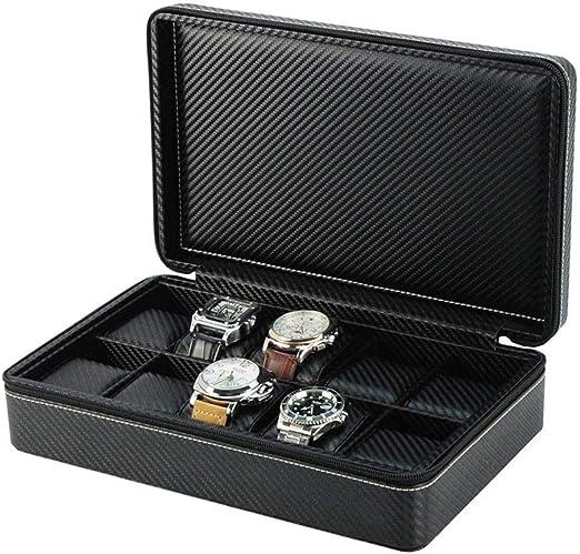 GOVD Caja Relojes Hombre 10 Caja para Relojes Organizador de ...