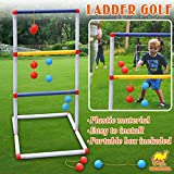 Strong Camel Ladder Toss Game Set Golf Backyard Family Games with 6 Bolos Kids Child Sports Ladderball Adults
