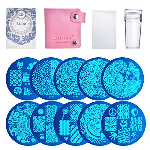 s 1 Stamper 1 Scraper Nail Art Image Stamp Stamping Plates Manicure Template Nail Art Tools ()